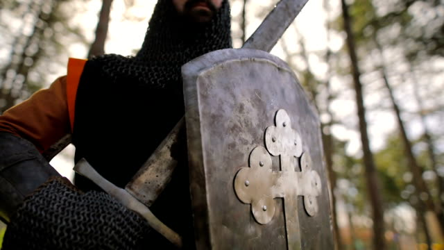 Proud knight after the battle Proud knight after the battle knight person stock videos & royalty-free footage