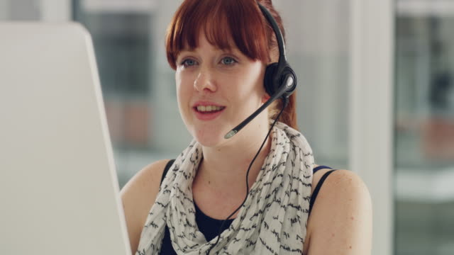 Providing the most efficient customer support to her clients 4k video of a young call centre agent working in an office saleswoman stock videos & royalty-free footage