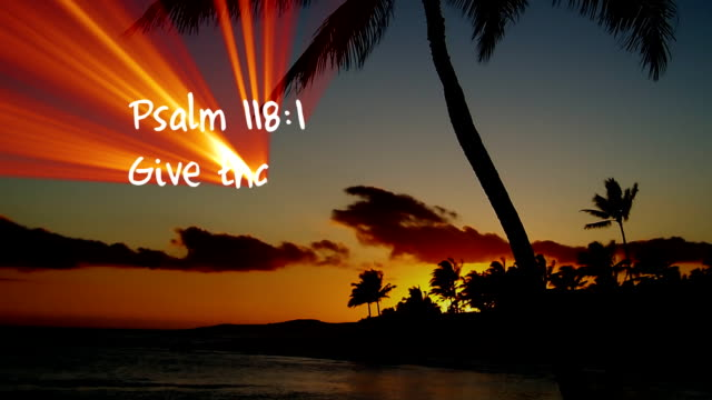 Psalm 118:1 - HD Psalm 118:1 Bible verse written with light. old testament stock videos & royalty-free footage