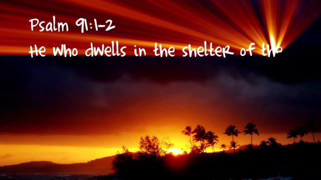 Psalm 91:1-2 - HD Psalm 91:1-2 Bible verse written with light. old testament stock videos & royalty-free footage
