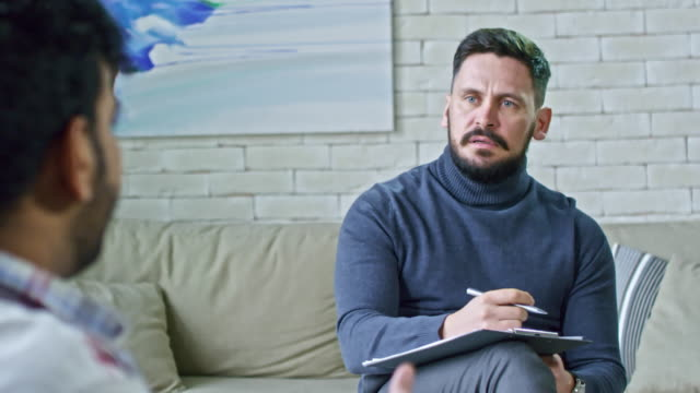 psychiatrist talking to patient - psychiatrist stock videos and b-roll footage