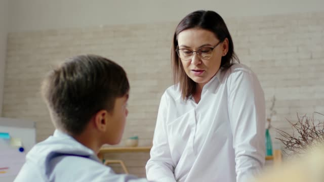 Psychologist Having Friendly Conversation with Student video