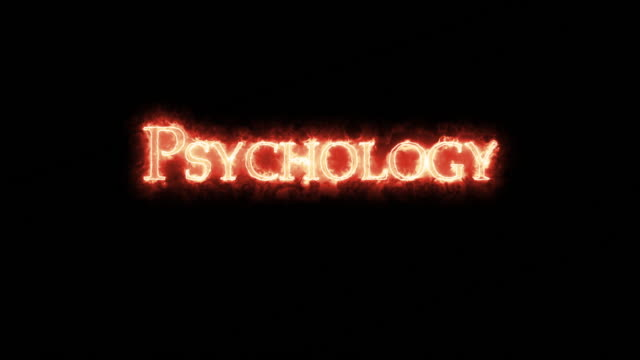 Psychology written with fire. Loop