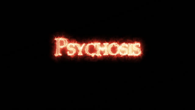 Psychosis written with fire. Loop
