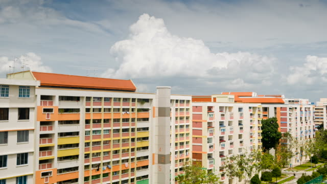 public housing - singapore architecture stock videos & royalty-free footage