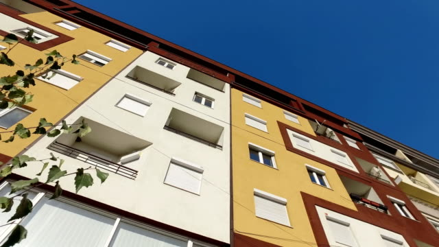 public new apartments buildings exterior - appartamento video stock e b–roll