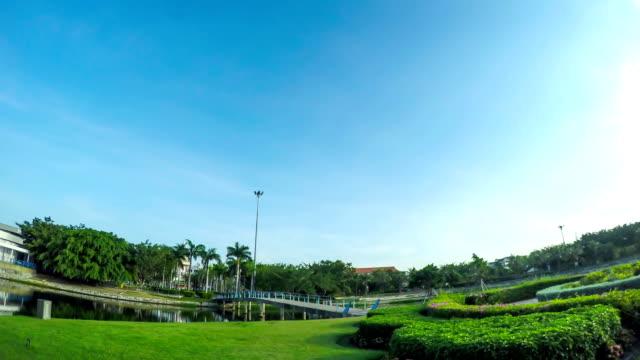 Public park in Chonburi, Thailand video