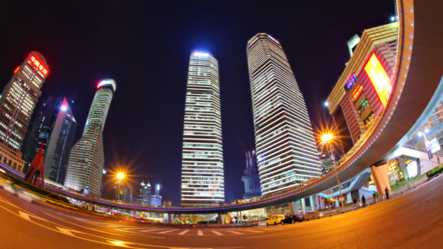 Pudong financial district Shanghai. China post modern architecture stock videos & royalty-free footage