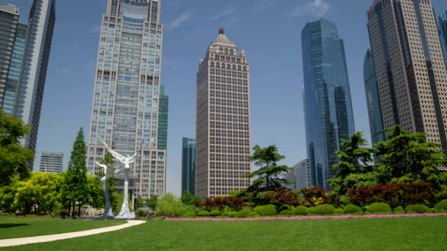 Pudong park day hyperlapse video