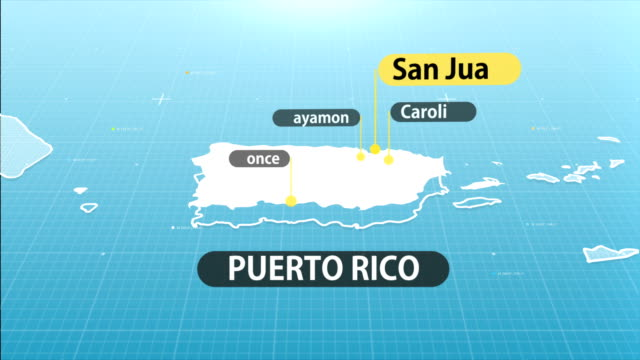 Puerto Rican Map map with label then with out label puerto rico stock videos & royalty-free footage