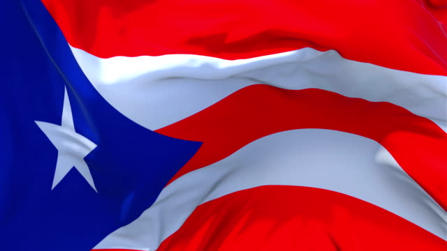 Puerto Rico Flag Waving in Wind Slow Motion Animation . 4K Realistic Fabric Texture Flag Smooth Blowing on a windy day Continuous Seamless Loop Background. Waving Flag in Wind Slow Motion Animation . 4K Realistic Fabric Texture Flag Smooth Blowing on a windy day Continuous Seamless Loop Background. puerto rico stock videos & royalty-free footage
