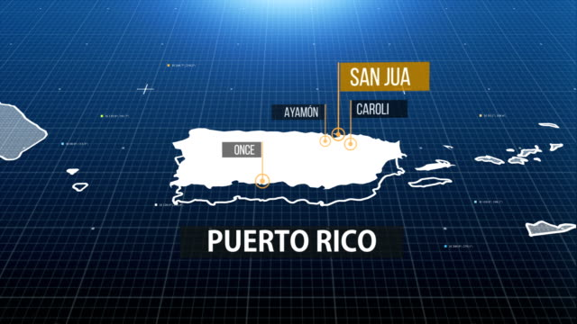 Puerto Rico map map with label then with out label puerto rico stock videos & royalty-free footage