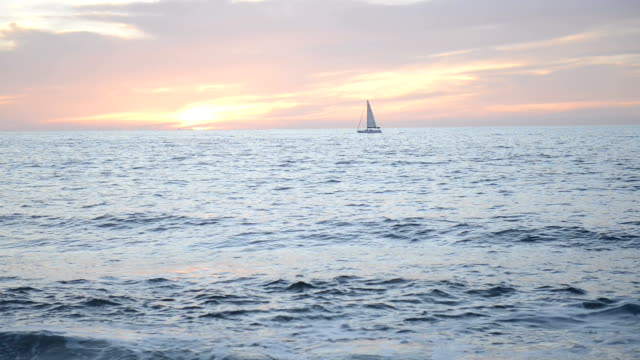 Puerto Vallarta Mexico Pacific Ocean Nature-scape Cinemagraphs Video with Sailboat