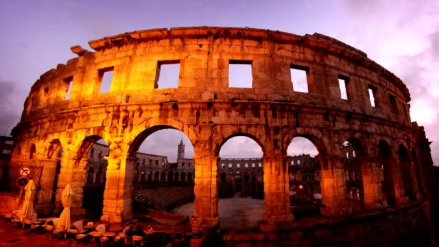 pula arena croatia - хорватия стоковые видео и кадры b-roll