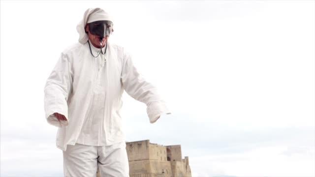 Pulcinella traditional Neapolitan mask video