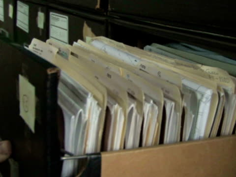 Pulling File From Cabinet video
