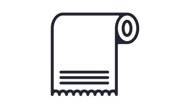Pulp & Paper Industry Line Icon Animation with Alpha