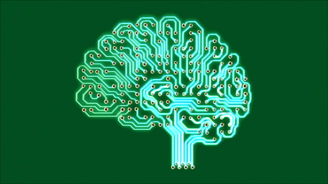 Pulsating electronic brain video