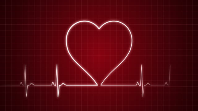 EKG Pulse Trace with Heart Shape | Loopable http://i.imgur.com/Z24r0.jpg medical oxygen equipment stock videos & royalty-free footage