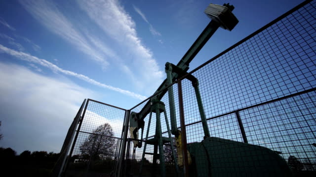 Pumping unit is working in oil field in Lower Saxony near Hannover video