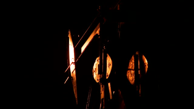 pumpjack at night video