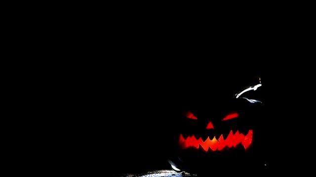 pumpkin for Halloween in the dark