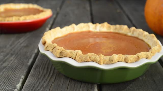 pumpkin pies - pumpkin stock videos & royalty-free footage