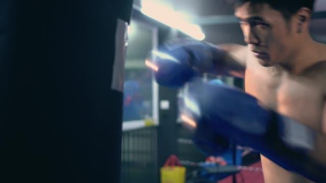 Punching bag workout,Video 4k. video
