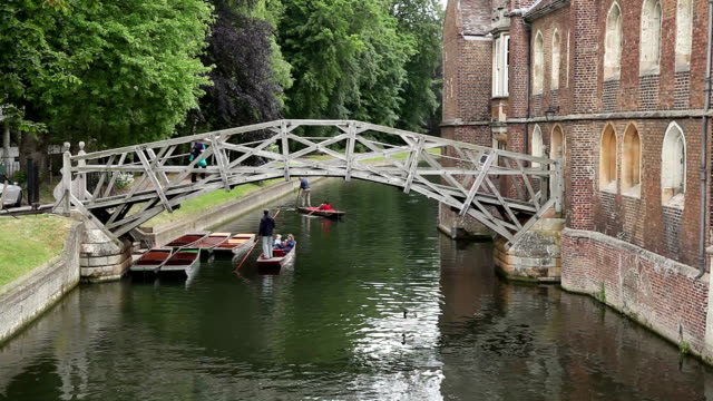 Punting on the River Cam, Cambridge video