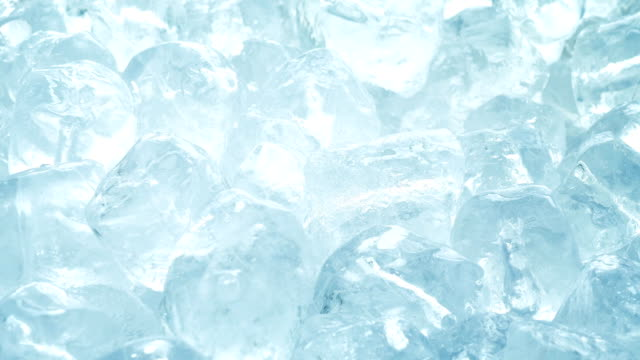 Pure Frozen Ice Cubes Rotating Lots of ice cubes turning slowly freezer stock videos & royalty-free footage