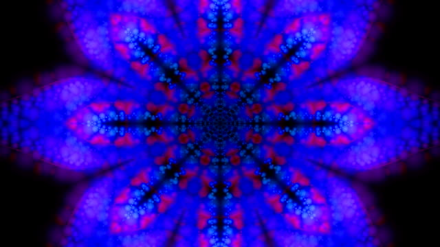 Purple and Blue Kaleidoscopic Loop video
