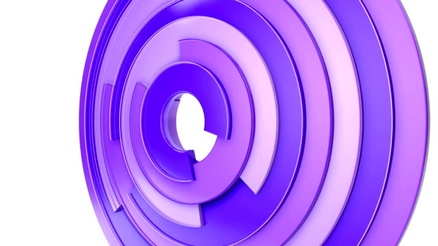 Purple circles background on white, loop. video