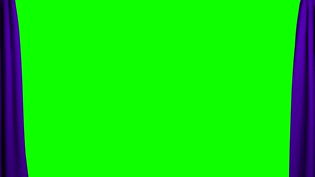 Purple Curtains opening and closing stage theater cinema green screen video