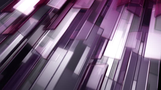 Purple glass blocks video
