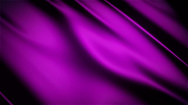 Purple glossy cloth satin realistic seamless loop waving animation