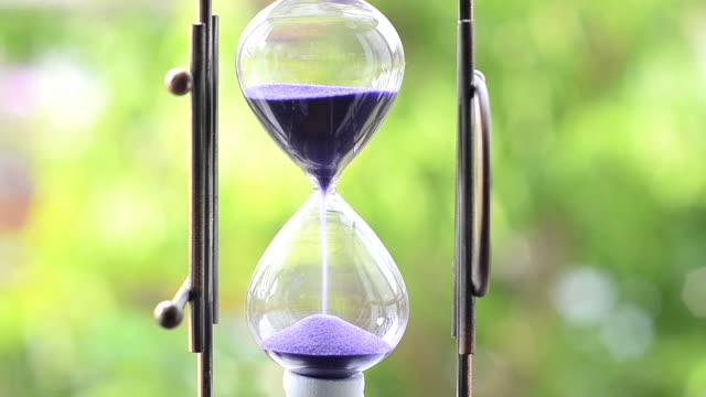 Purple hourglass video