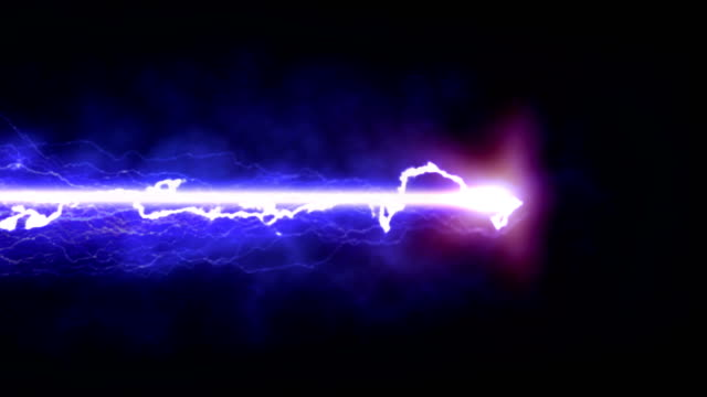 Purple lightning on a black background Colorful lightning coming from black void laser stock videos & royalty-free footage