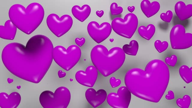 Purple Looped Hearts For Mother's Day Concept