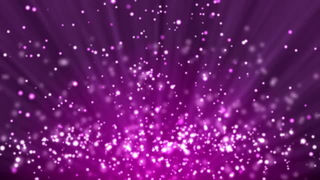 紫粒子背景と光線 - ピンク色点の映像素材/bロール