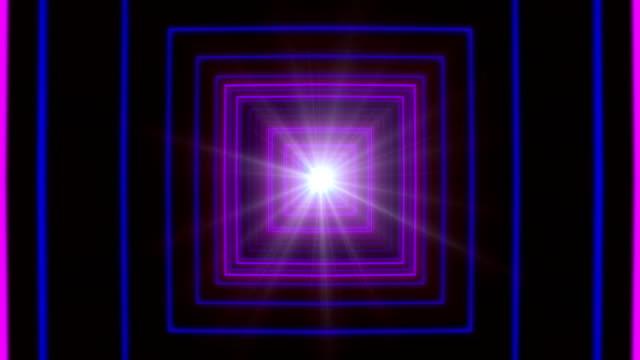 Purple Square Tunnel Loop video