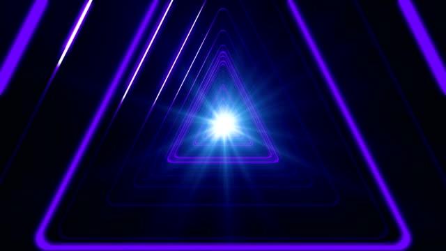 Purple Triangular Tunnel Loop video