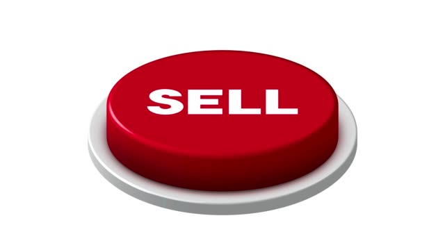 Pushing 4K Red Sell Button Animation on white and green background Pushing 4K Red Sell Button Animation on white and green background push button stock videos & royalty-free footage