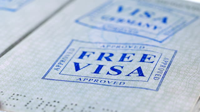 put a stamp in the passport: Free visa, approved put a stamp in the passport: France visa, approved, close-up 4Kput a stamp in the passport: Free visa, approved, close-up 4K schengen agreement stock videos & royalty-free footage
