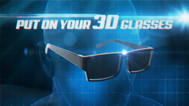 Sie ihre 3D-Brille/4 K – Video