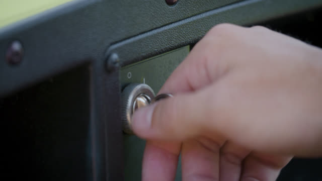 Putting a Key into a Golf Cart Ignition