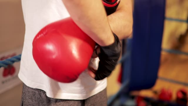 Putting Boxing Gloves On video