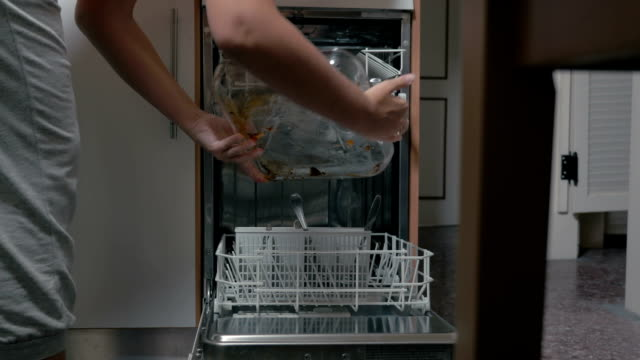 Putting Dirty Dishes into Dishwasher video