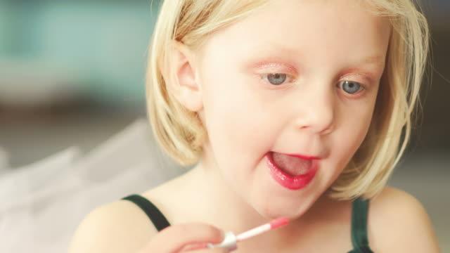 Putting lipstick on video