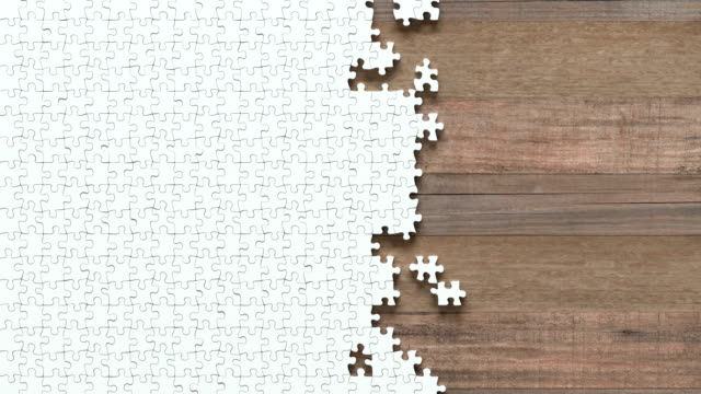 puzzle motion with clipping mask - puzzle video stock e b–roll
