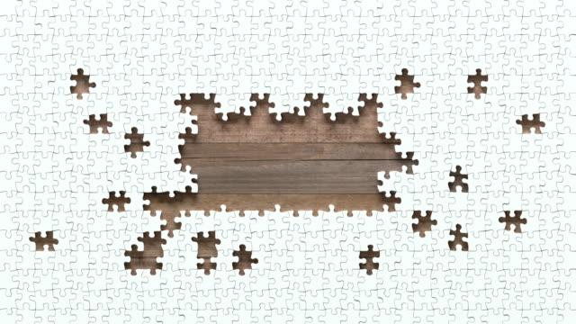 stockvideo's en b-roll-footage met puzzel motion met knipmasker - legpuzzel